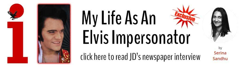 JD King my life as an Elvis impersonator i newspaper article