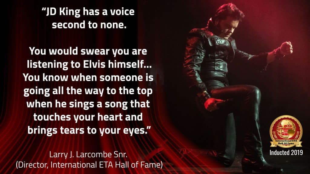 Elvis impersonator JD King inducted into the Elvis Tribute Hall of Fame 2019